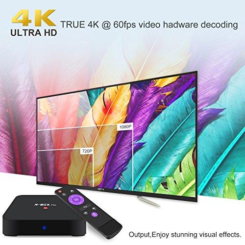 Android 8.1 Smart TV Box - SCS ETC R-Box Plus 2018 New Generation Android TV Box with RK3328 Quad-Core 64bit Cortex-A53, 2GB+16GB, Built-in Wi-Fi, HDMI Output, USB4, 4K UHD Web TV Box