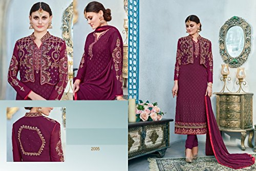 indiano vestito Wear Bollywood Party per musulmana ETHNIC pakistano misurare indiano donne 2629 Suit EMPORIUM Straight Salwar designer Personalizza abito HqxwWOxI8