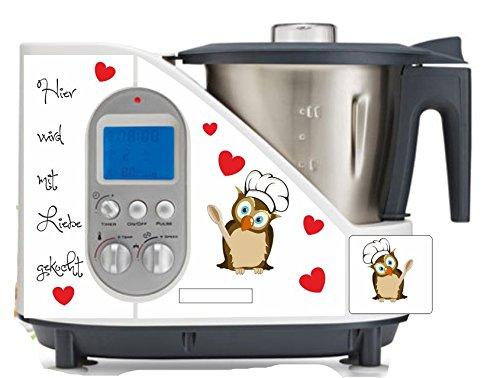 Robot de cocina pegatinas Búho Koch Amor apto para SC 100