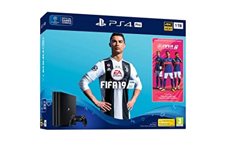 2bec05422 Image Unavailable. Image not available for. Colour: Sony PlayStation 4 Pro ( 1TB) Console with FIFA 19 ...