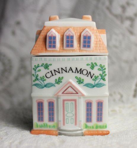 (Lenox 'Spice Village' Porcelain Victorian House Spice Jar - Cinnamon)