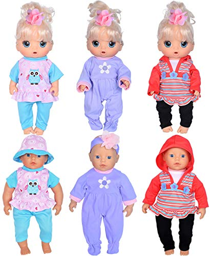 ebuddy Total 7pcs Doll Playtime Outfits Clothes for 11