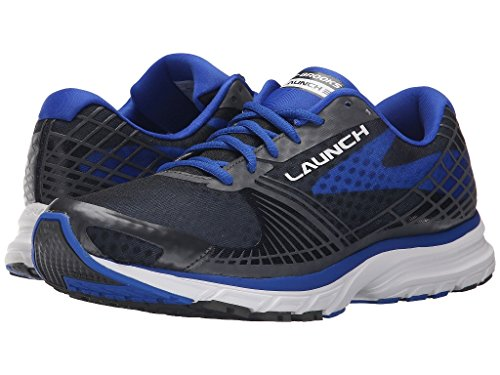 Brooks Mens Launch 3 Running Shoes Anthracite/Blue HX8DMpT7
