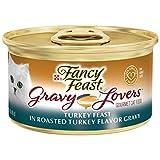 Purina Fancy Feast Gravy Wet Cat Food, Gravy Lovers Turkey Feast in Roasted Turkey Flavor Gravy - (24) 3 oz. Cans