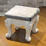 SangreAzul European Style Plastic Stool,Solid Wood Luxury Decoration Ornament Durable Easy Storage Living Room Bedroom Home Multifunctional Stool-D