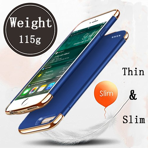 New Idealforce iPhone 6Plus/7Plus/8Plus Battery Charger Case, 4000mAh Portable Charger Case Rechargeable Extended Charging Case Cover for iPhone 6Plus/7Plus/8Plus (5.5 Inch) (Blue) orange iphone 7 plus case 3