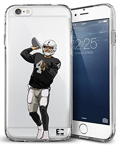 Epic Cases iPhone 6/6s Slim TPU Case Dominate the Football Gridiron Series, Carr #4, Crystal Clear (iPhone) (iPhone 6) (iPhone (Crystal Clear Football)