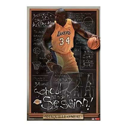 0007252528b05 Amazon.com: Buyartforless Shaquille O'Neil Basketball Poster Art ...
