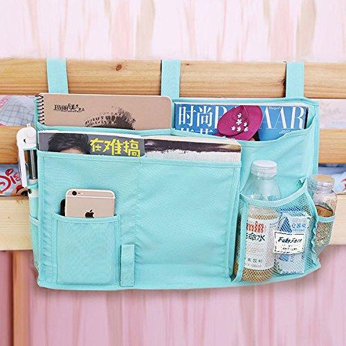 FakeFace 8 Pockets Hanging Bedside Caddy For Dorm Room Cabin Beds Bunks Nursery Baby Cot Stroller Book Magazine Cellphone Kids Diaper Toys Cup Bottle Holder
