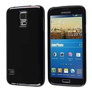 Diseño Samsung Galaxy S5 con carcasa de silicona negro