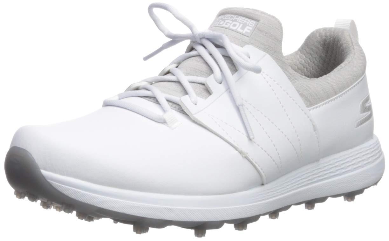 Skechers Women's Eagle Spikeless Golf Shoe, White/Gray, 11 M US by Skechers