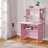 Legare Kids Desk with Hutch, 36-Inch, Pink and White
