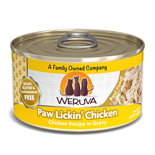 Weruva Classic Cat Food, Paw Lickin' Chicken With Chicken Breast In Gravy, 3Oz Can (Pack Of 24)
