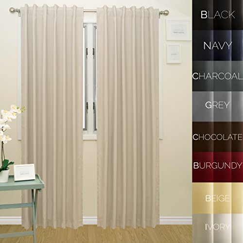 Prestige Home Fashion Thermal Insulated Blackout Curtain - - Thermal Back Curtains