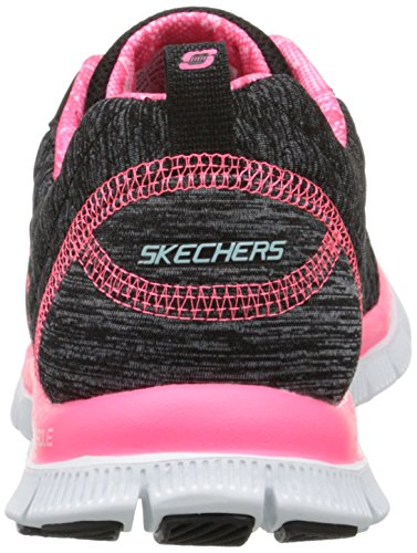 skechers FLEX APPEAL - PRETTY CITY - Zapatillas de deporte para mujer negro - Noir (Noir/Rose)