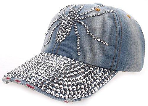 Punk Costume Skateboard (Coolzdt Multiple Cute ANIMALS Bling Rhinestone Adjustable Strapback Hats Baseball Cap Denim (19 Style))