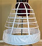 7 Hoop 108'' Reproduction Civil War Cage Crinoline Petite Regular Ladies 10 12 14 16 18 20 22 Period Correct Hoop Skirt Gown 1855 1856 1857