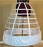 "7 Hoop 108"" Reproduction Civil War Cage Crinoline Petite Regular Ladies 10 12 14 16 18 20 22 Period Correct Hoop Skirt Gown 1855 1856 1857"