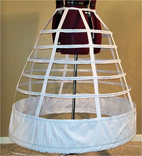 7 Hoop 108'' Reproduction Civil War Cage Crinoline Petite Regular Ladies 10 12 14 16 18 20 22 Period Correct Hoop Skirt Gown 1855 1856 1857 by Love2Sew