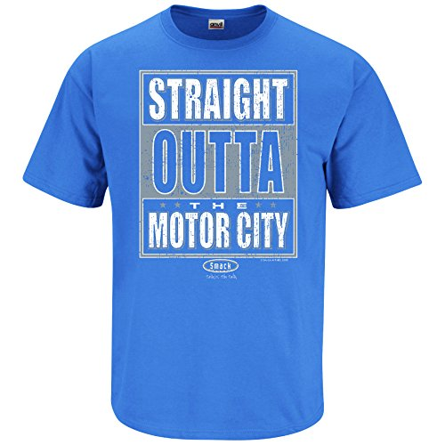 - Smack Apparel Detroit Football Fans. Straight Outta The Motor City Iris T-Shirt (Sm-5X) (3XL)