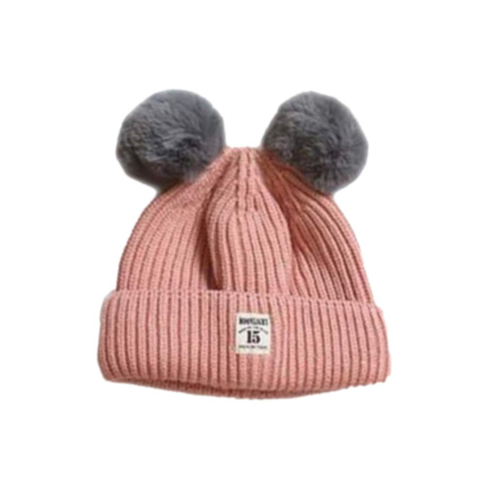 Black FEINICAL Cap Warm Hat Autumn Winter Knit Cap for Baby Children Kid