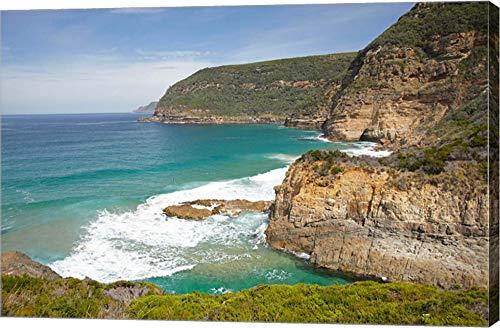 (Cliffs at Maingon Bay, Tasman Peninsula, Australia by David Wall/Danita Delimont Canvas Art Wall Picture, Gallery Wrap, 28 x 19 inches)
