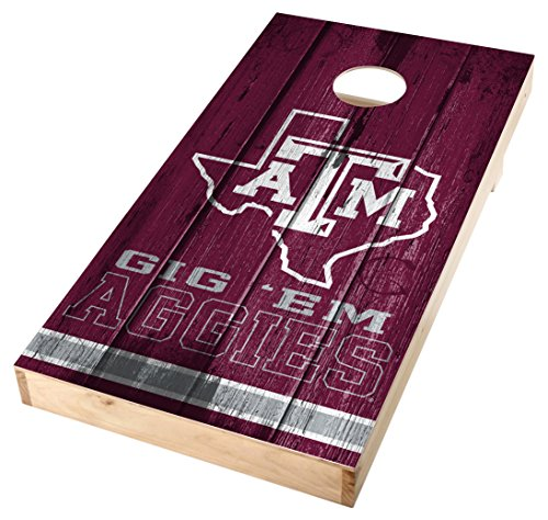 PROLINE NCAA College 2'X4' Texas A&M Aggies Single Cornhole Board with 4 Bags - Vintage Design (Toss Single)