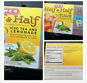 H.E.B HALF AND HALF Iced Tea and Lemonade k-cup 12 cts. per box (Pack of 4) by HEB