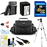 8GB Accessory Kit For Sony HDR-CX200, HDR-CX260V High Definition Handycam Camcorder Includes 8GB High Speed SD Memory Card + Replacement (2300Mah) NP-FV70 Battery + Ac / DC Charger + Deluxe Case + Tripod + Mini HDMI Cable + USB 2.0 SD Reader + More