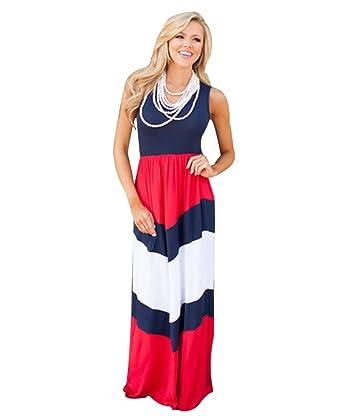 613b47510ab YOUJIA Ete Robe pour Mère et Bébé Fille en Voyage Maxi Robes Sans Manches  Taille Haute