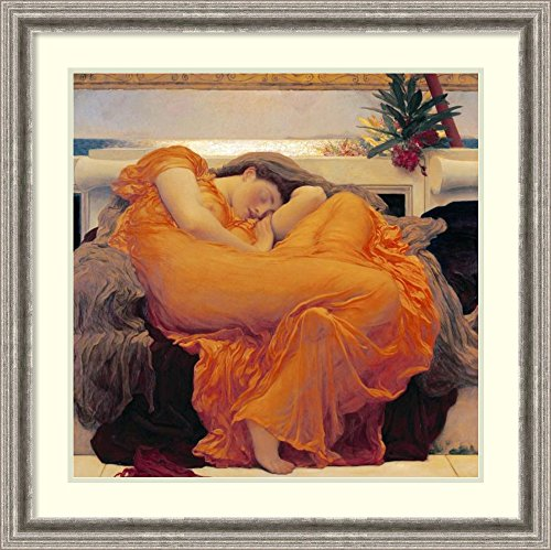 Framed Art Print 'Flaming June' by Lord Frederick (Flaming June Framed Print)