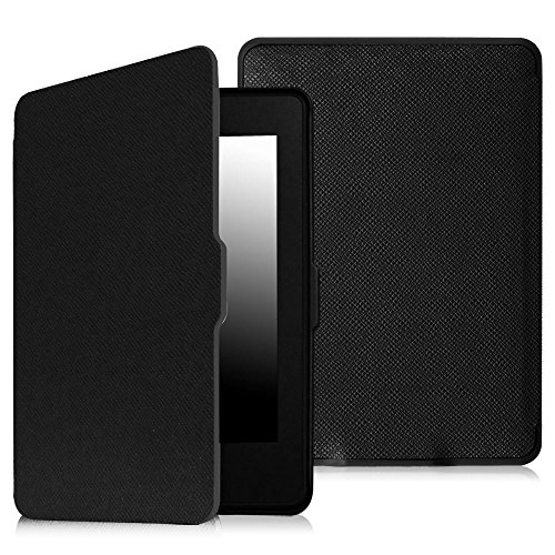 Fintie SmartShell Case for Kindle Paperwhite - The Thinnest and Lightest PU Leather Cover with Auto Sleep/Wake for all-new Amazon Kindle Paperwhite (Fits all 2012, 2013, 2015 and 2016 Versions), black