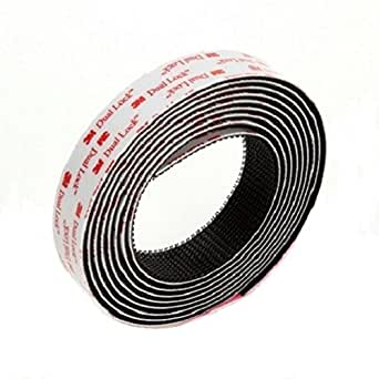3M Dual Lock Reclosable Fastener TB3551/TB3552 400/170 Black 1 in x 10 ft (1 Mated Strip/Bag)