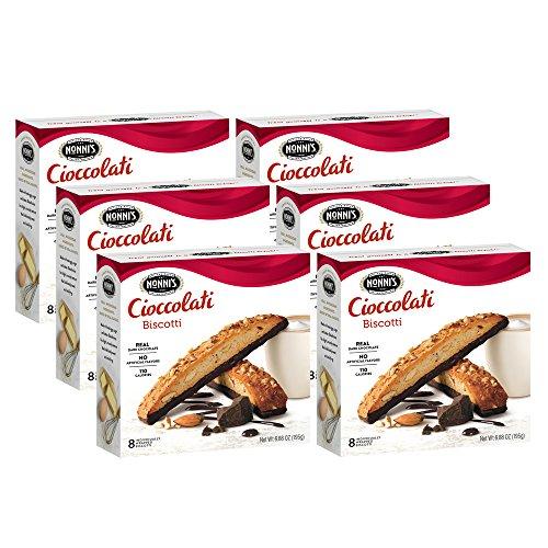 Nonni's Biscotti, Cioccolati, 6 Boxes, 48 Biscotti Total