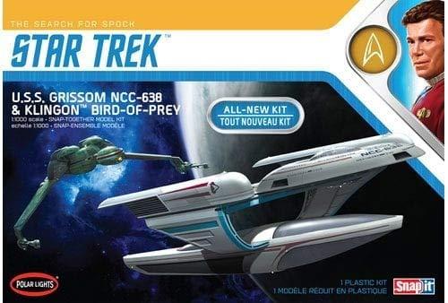 1/1000 Star Trek U.S.S. Grissom and Klingon Bird Of Prey Plastic Model Kit