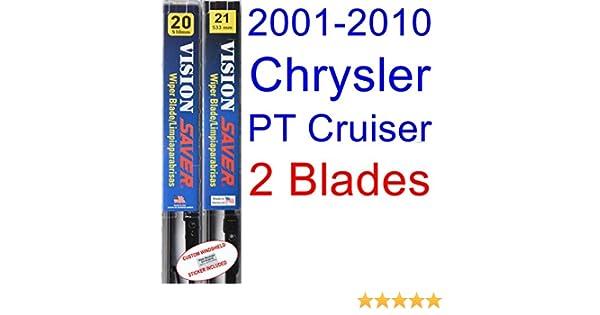 Amazon.com: 2001-2010 Chrysler PT Cruiser Replacement Wiper Blade Set/Kit (Set of 2 Blades) (Saver Automotive Products-Vision Saver) (2002,2003,2004,2005 ...