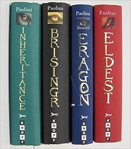 Christopher Paolini Inheritance Cycle 4 Book Set Eragon Eldest