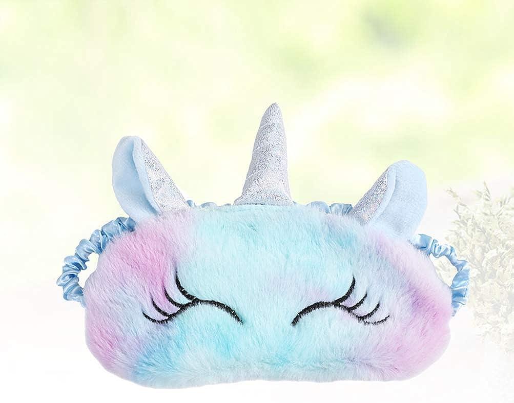 Fenical Licorne Masque de sommeil en peluche pour femmes filles et enfants Cadeau de No/ël