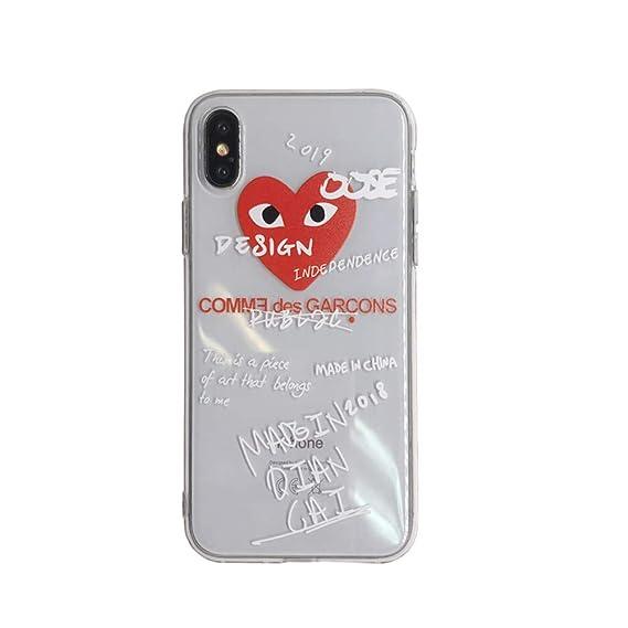 79ce2a86fe56 Amazon.com  Fashion CDG iPhone Xs Max case Couple Creative Love ...