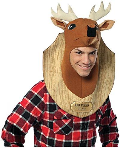 Rasta Imposta Oh Deer Trophy Costume, Brown, One Size