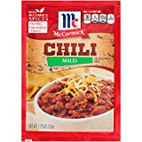 McCormick  Mild Chili Seasoning Mix (Makes Every Night the Perfect Chili Night, Expertly Blended Mild Seasoning Mix, No MSG, Artificial Flavors or Added Colors), 1.25 oz