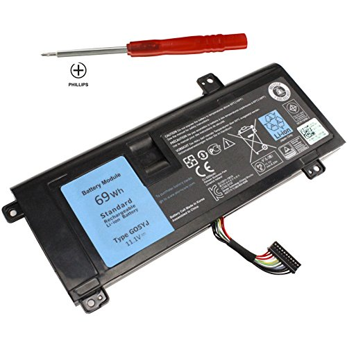 Shareway 6-Cell Replacemnet Laptop Battery For Dell Alienware 14 A14 M14X R3 R4 14D-1528 ALW14D-5728 ALW14D-5528 G05YJ 0G05YJ [11.1V 69Wh] - 12 Months Warranty!