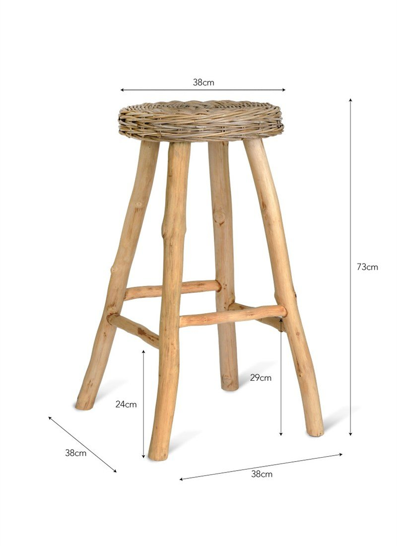 Tremendous Garden Trading Bracklesham Bar Stool Rattan Amazon Co Uk Creativecarmelina Interior Chair Design Creativecarmelinacom