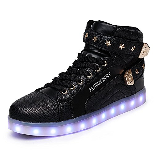 O&N Women Men High Top LED Lights Up Shoes Flashing Sneakers USB Charging for Valentine's Day Christmas