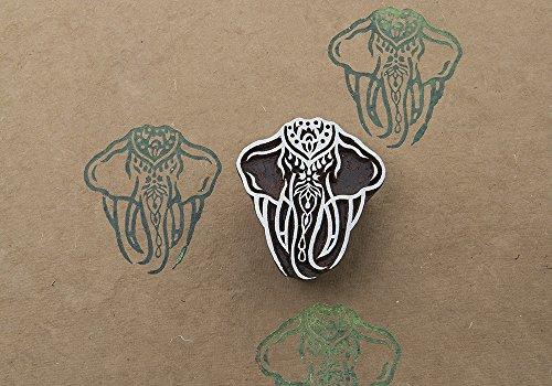 Holy Elephant (Blockwallah Holy Elephant Wooden Block Stamp)