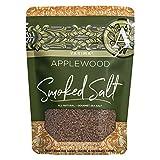 SaltWorks Yakima, Applewood Smoked Sea Salt, Artisan Zip-Top Pouch, 3 Ounce