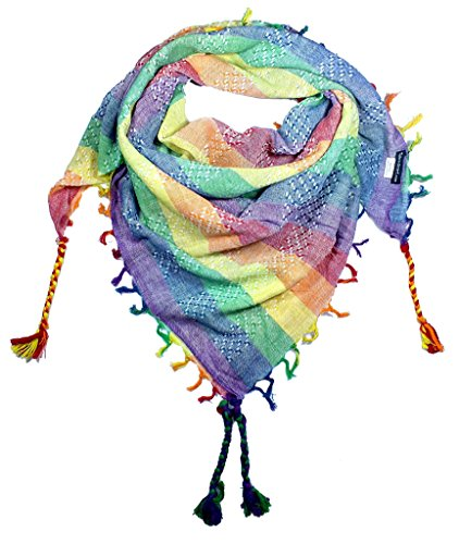 (100% Cotton Shemagh Keffiyeh Scarf Wrap for Women and Men by Tahrir Scarf - 3 Sizes and many color options (Full, Pastel))