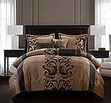 Nanshing America Helda 7-Piece Deluxe Luxury Comforter Set, Queen