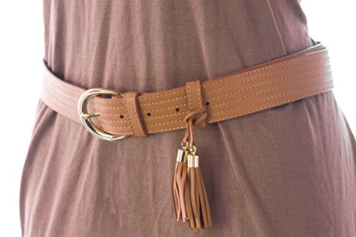 Max Mara Women's Locri Leather Tassel Belt Medium (33'') Tobacco by MaxMara (Image #1)