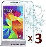 3 Vitres de protection en verre trempé pour écran Samsung Galaxy Core PRIME G360 G361 value édition VE by Campus Telecom